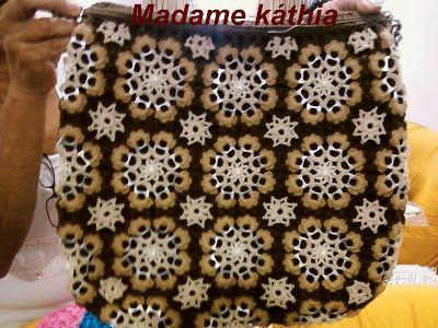 Madame Káthia: ...>>> Bolsa em lacre e crochet <<<...