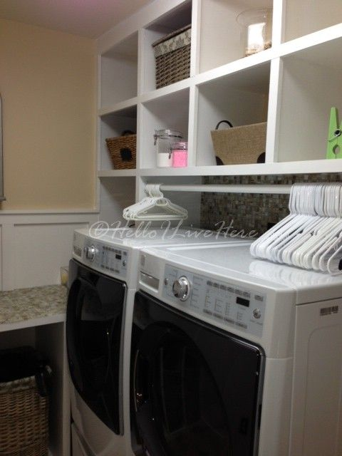 Take a peek at this neat and tidy laundry room redesign.
