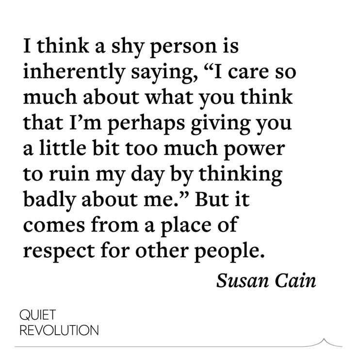 "Susan Cain explains why she thinks shyness can be a ""civilizing force"" in our self-promoting culture: http://www.quietrev.com/susan-cain-quiet-podcast/#7"