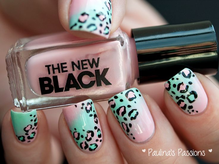 31DC2013 Day 13: Pastel Leopard Print Nails - Paulinas Passions