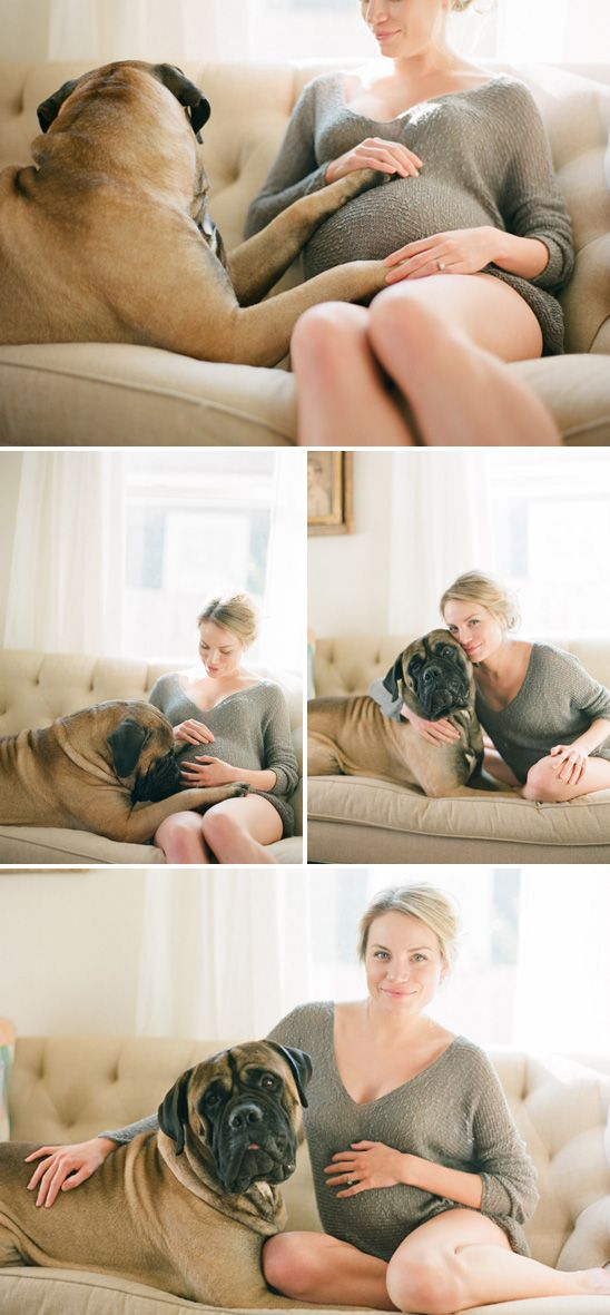 """Sweet Maternity photos with the first born """"child"""" <3"""