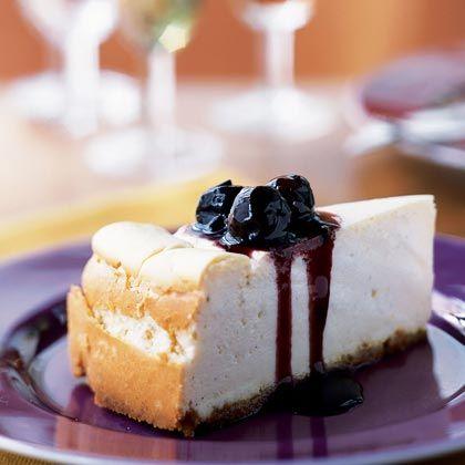 Vanilla Cheesecake with Cherry Topping