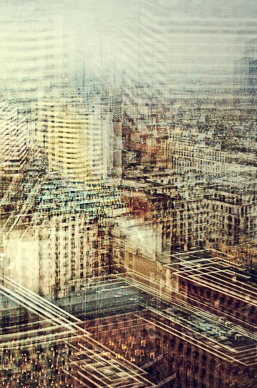 View Berlin by Stephanie Jung. multiple perspective photography, creating a blurred effect but still has familiar structures