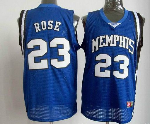 Memphis  #23 Derrick Rose Blue NBA Jerseys