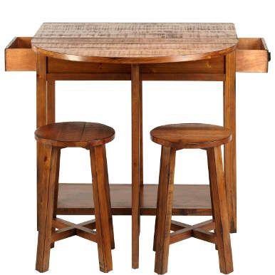 CHAIRLOCK Klapptisch mit 2 Hockern - Küchenmöbel