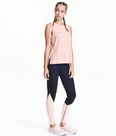 Sports Tights | Dark blue/powder | Ladies | H&M US, $25