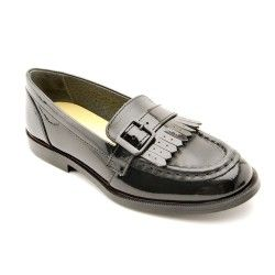 Stow, Black Leather Girls Slip-on School Shoes http://www.startriteshoes.com/school-shoes/