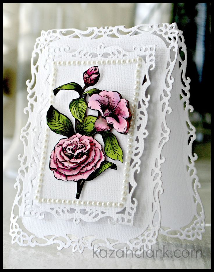 Romantic Shabby Chic inspired card with @Marsha Penner Penner Grove Papercraft, Inc. and @Spellbinders
