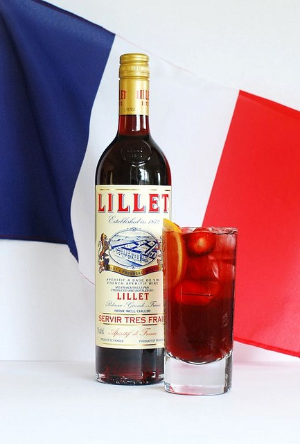 Lillet Rouge Cup with French flag by The Cocktail Lovers, via Flickr