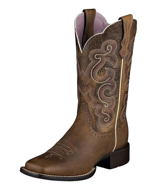 "Women's Quickdraw 11"" Boot - Badlands Brown/Wicker"
