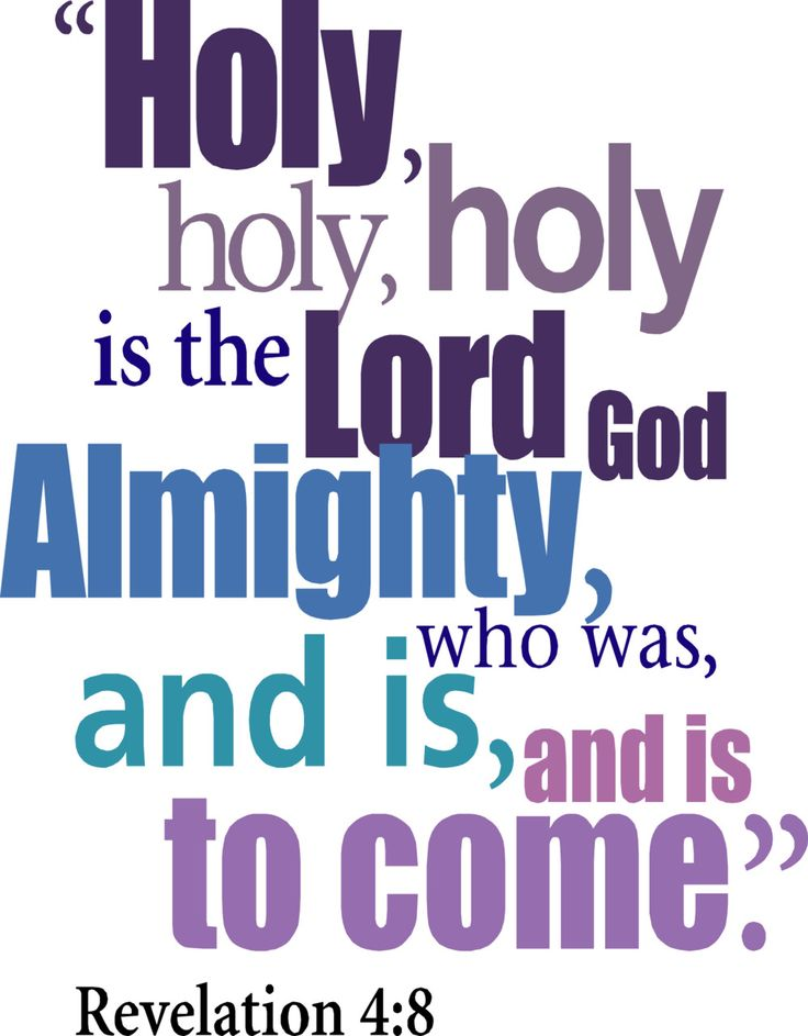 Revelation 4:8 - - We sing this at church and I love it.