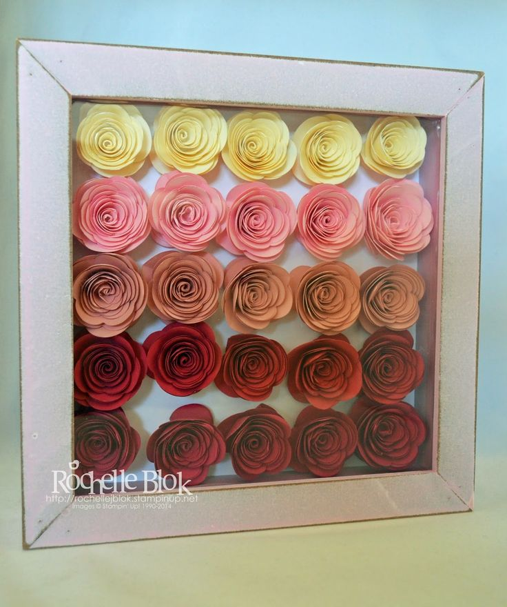 the stamping blok up spiral flower die shadow box frame by rochelle - Shadow Box Frames