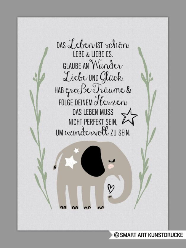 Kunstdruck mit motivierendem Spruch, Wohndeko / art print with motivating saying, home decor made by Smart Art Kunstdruck via DaWanda.com