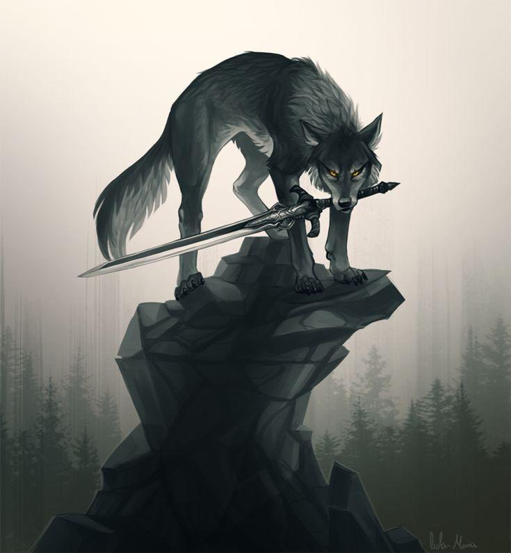 вернувшись домой, картинка волк с мечом имеет просто замечательный