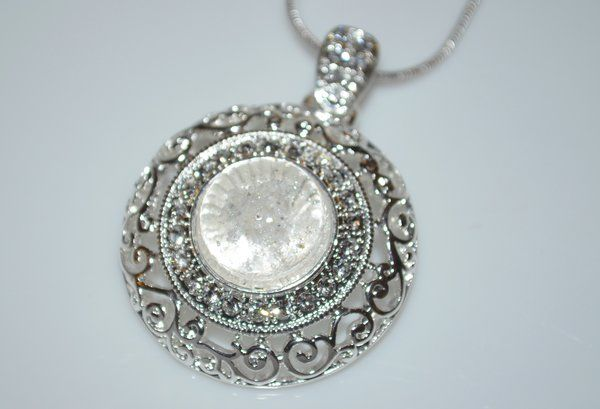Cremation Jewelry Ashes Necklace made with your loved one's ashes