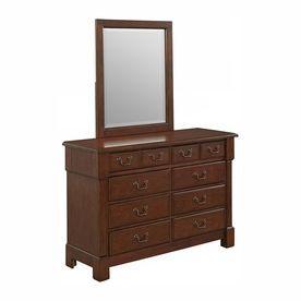 Home Styles Aspen Rustic Cherry Mahogany 8-Drawer Double Dresser 5520-74