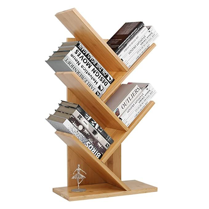 Amazon Com Jiikooai Tree Bookshelf Book Rack Display Storage Bookcase Magazine Rack Multi Tier Floor Fre Bookcase Organization Wood Bookshelves Tree Bookshelf