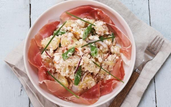 Oppskrift på lun potetsalat med cottage cheese