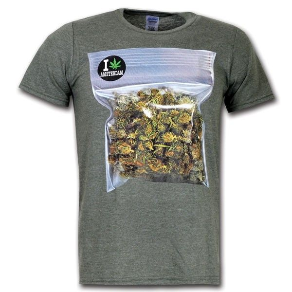 Grinding Weed T-shirt - Amsterdam Weed Shirts - Hollandgiftshop.com