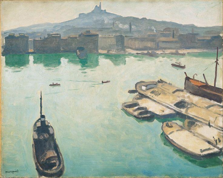 Città e paesi. Albert Marquet: Porto di Marsiglia. Olio su tela del 1916. 65 X 81 cm. Ohara Museum of Art, Kurashiki, Okayama.