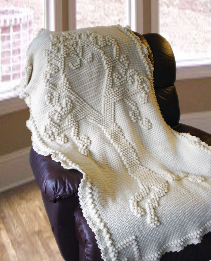 Crochet Afghan Pattern Wedding Gift : 14 best images about Crochet on Pinterest Trees, Filet ...