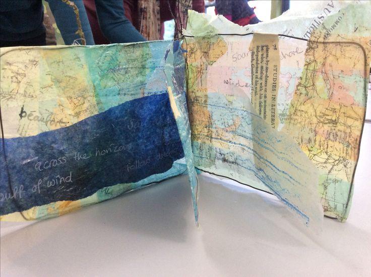 Hand made book, seaside theme