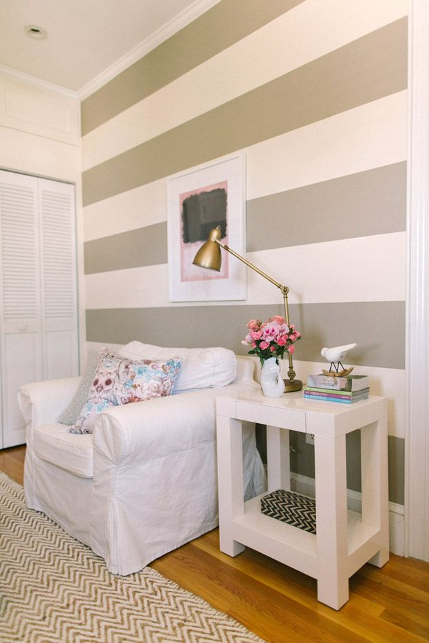 Ten Tips on Painting a Striped Wall   Style Me Pretty Living. 502 best Painting walls  molding    images on Pinterest   Painting