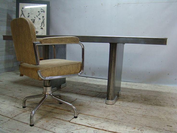 Ahrend Oda - Art Deco-industriel-stripped-polished-table-tafel 010