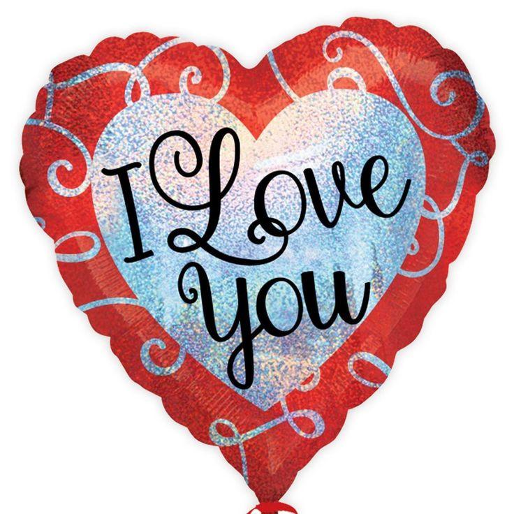 "fancydressvip - 18"" I Love You Sparkle Heart Foil Balloon, £3.59 (http://www.fancydressvip.com/party/valentines-day/18-i-love-you-sparkle-heart-foil-balloon/)"