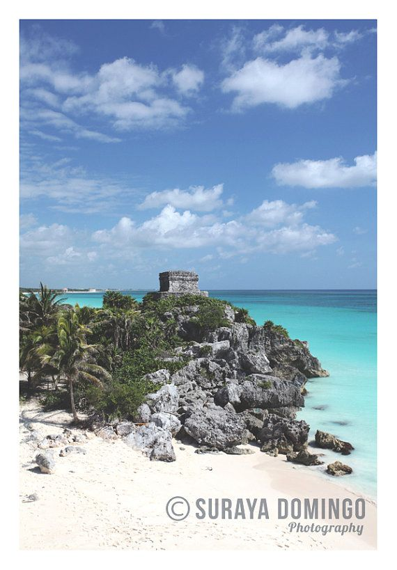 Tulum Mayan Ruins overlooking Paradise The by SurayaDomingo, £19.95