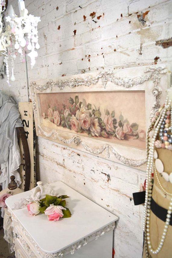 Wondrous Painted Cottage Chic Shabby Romantic Rose Canvas Print Hd59 Interior Design Ideas Lukepblogthenellocom
