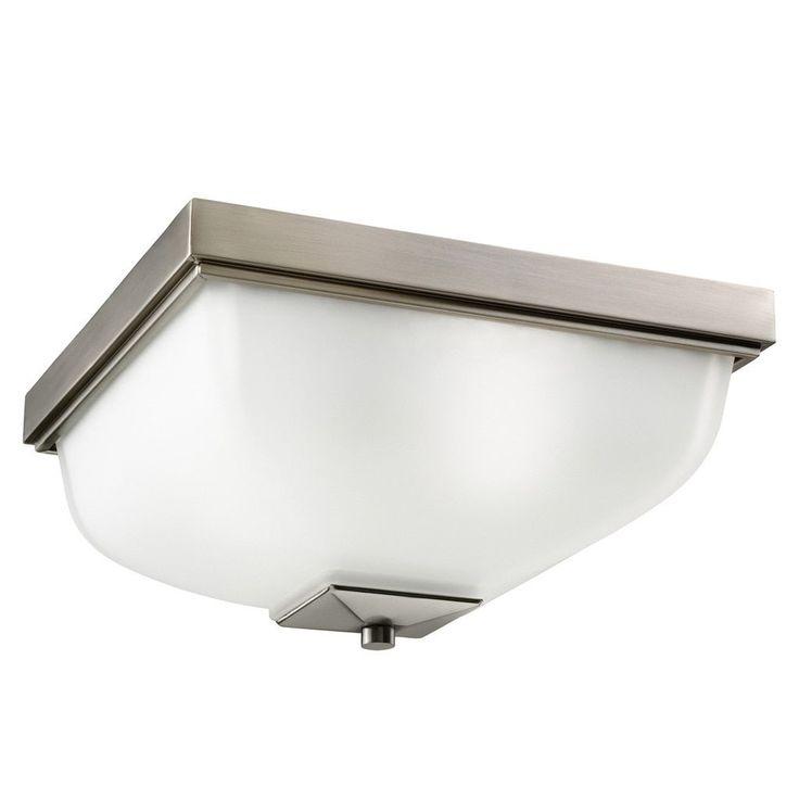 Kichler Lighting Contemporary 2-light Antique Pewter Indoor/Outdoor Flush Mount, Grey