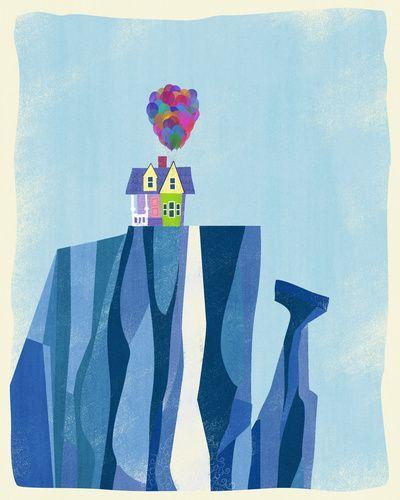 Pixar Up — Paradise Falls Art Print by Ciara Panacchia | Society6