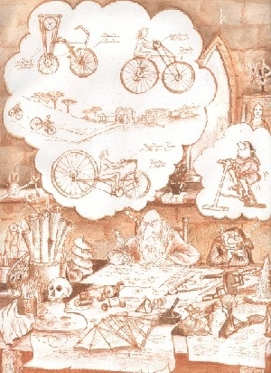 Leonardo...y el inventor de la bicicleta estacionaria