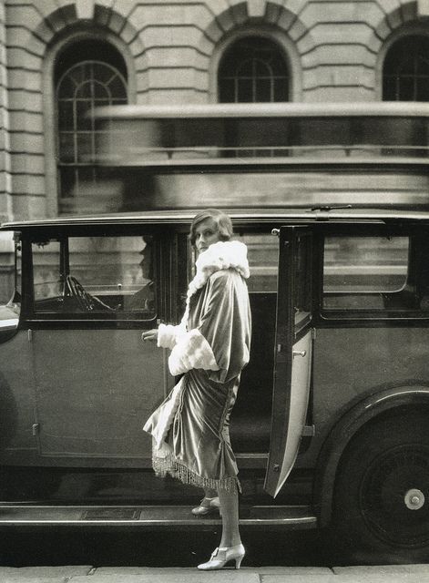 """""""Clothes and the Car..At the Theatre"""", photo by Cecil Beaton for Vogue, 1927"""