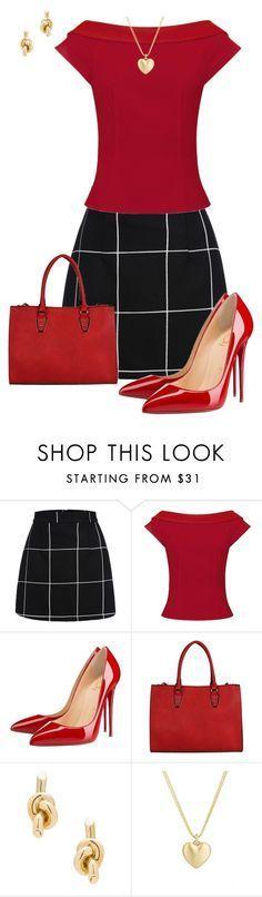 """Untitled #782"" by angela-vitello on Polyvore featuring Christian Louboutin, Balenciaga and Finn"