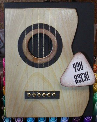 1870 best cards to case images on pinterest cards bday cards and by holly at hog wild about stamping rockin guitar template at her site mens birthday cardsbirthday m4hsunfo