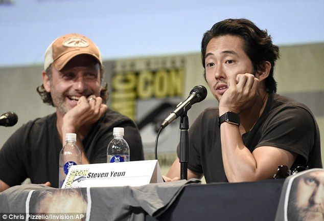 The originals: Andrew Lincoln and Steven Yeun seemed to have a good time with each other a...