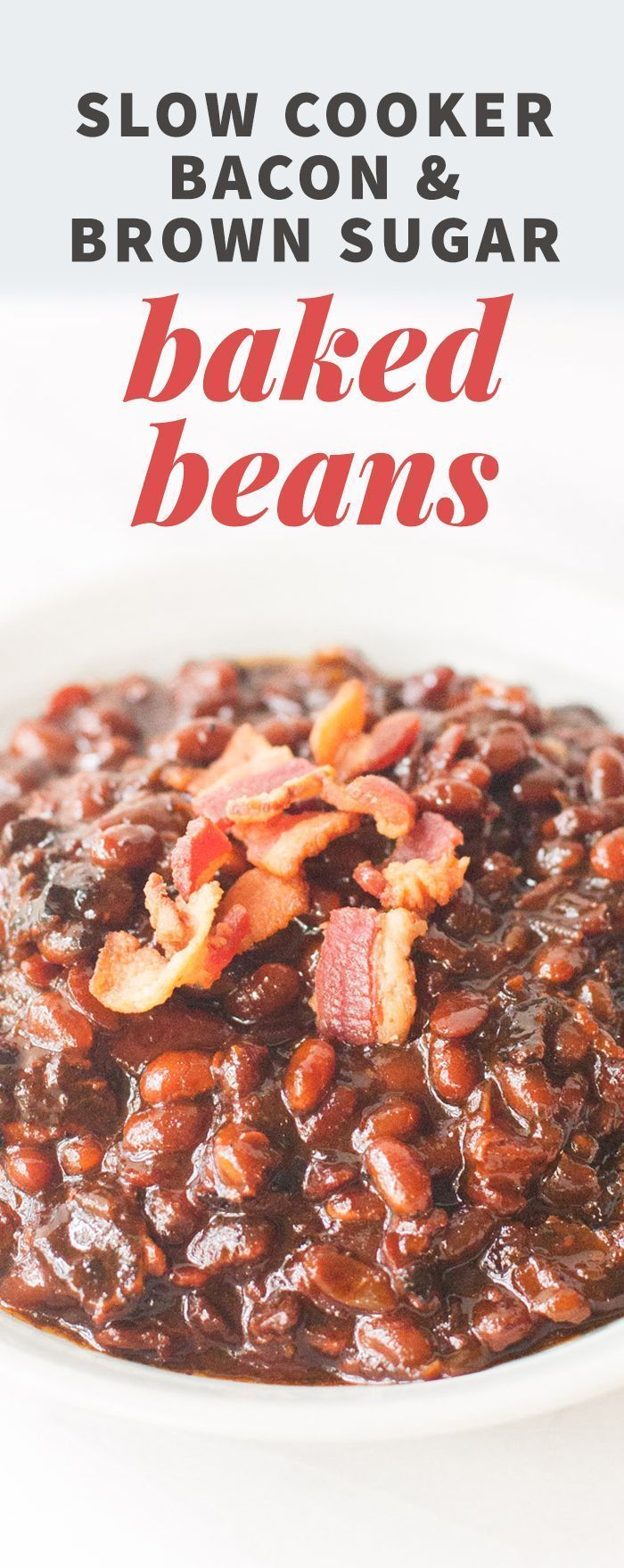 Slow Cooker Bacon & Brown Sugar Baked Beans (Sponsored Partnership) #CrockPotRecipes #sponsored @Crockpot