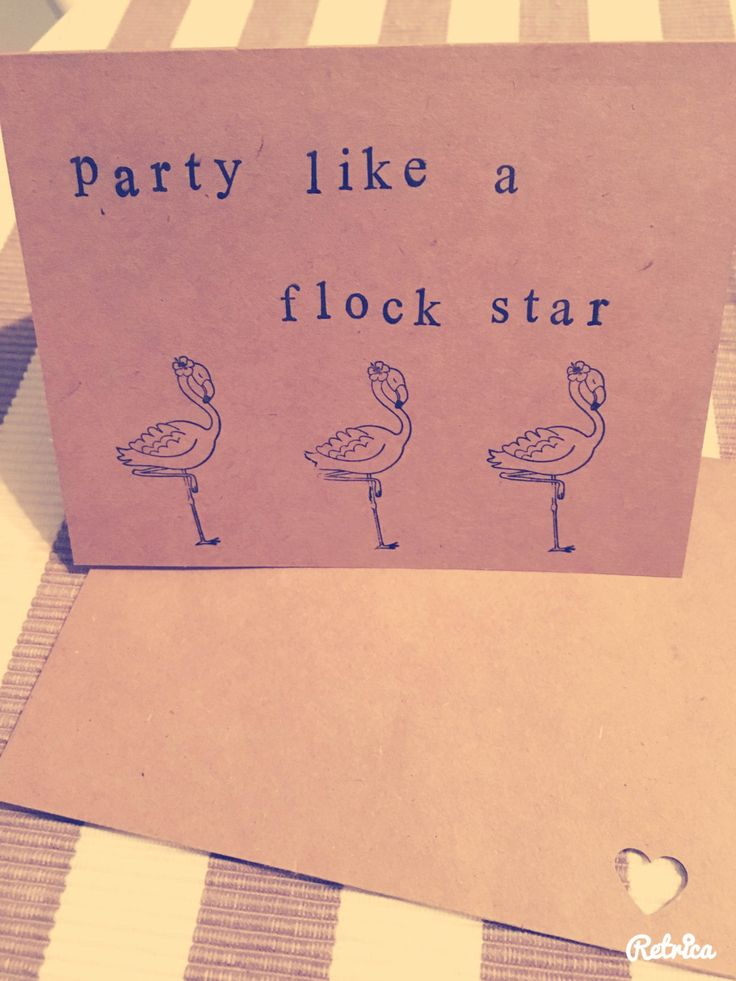 flamingo greeting card,handmade pun card, birthday card by Dorkanddorkettecards on Etsy
