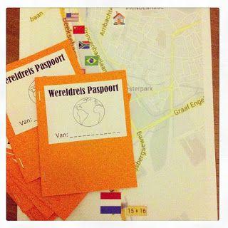 Wereldreis: op speurtocht langs zes landen: een klein tasje voor onderweg, een Wereldreis Paspoort, waarin je elk land kan afstempelen, een kaart van de buurt met de route erop en In elk land deden we een spelletje of activiteit: van bowlen in Amerika, naar Snoepjes-Eten-Met-Stokjes in China, tot een Pinguin-Eieren-Race op Antarctica, pannenkoeken eten in Nederland, ...