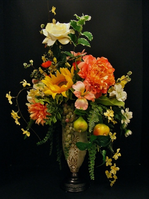 301 best florals from other michaels designers images on pinterest summer garden arrangement with fruit annette at michaels arts crafts madison tn silk flower mightylinksfo Images