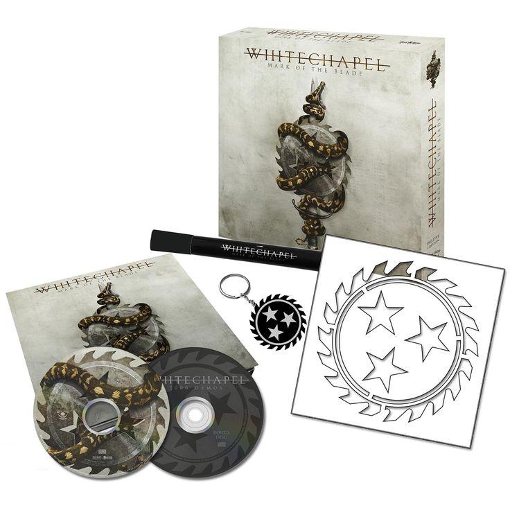 """L'album dei #Whitechapel intitolato """"Mark of the blade"""" con cofanetto in edizione limitata."""