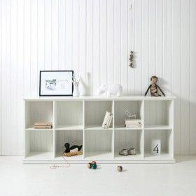 Oliver Furniture flaches Regal mit 10 Fächern