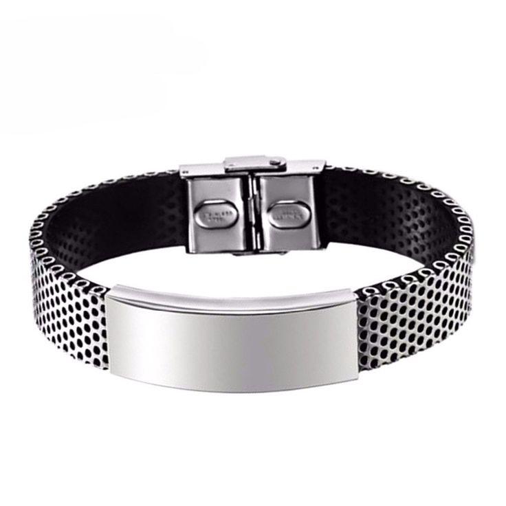 Punk Bracelet With Titanium Stainless Steel