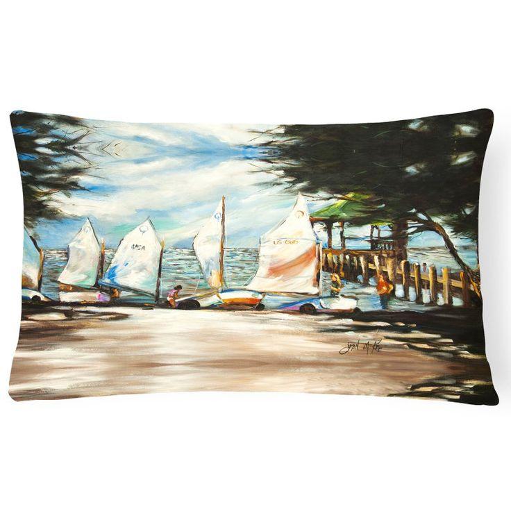 Carolines Treasures Sailing Lessons Sailboats Rectangle Decorative Pillow - JMK1077PW1216