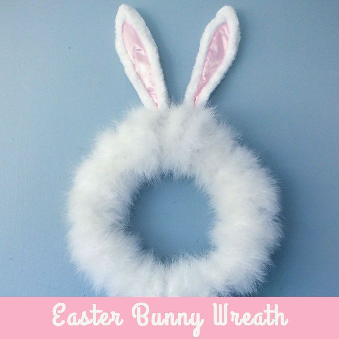 This Easter Bunny Wreath project is super easy and makes an adorable Easter decoration that both kids and adults will love.