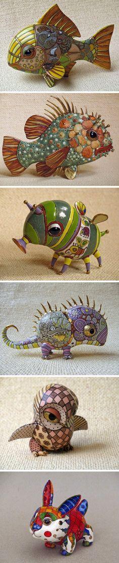 Porcelain Figurines by Anya Stasenko and Slava Leontyev #porcelain #sculpture #figurines
