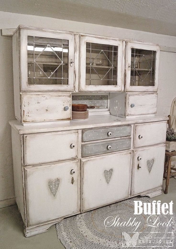 wesnuschka buffet mit herzen im polka dots shabby look style shabby chic pinterest. Black Bedroom Furniture Sets. Home Design Ideas