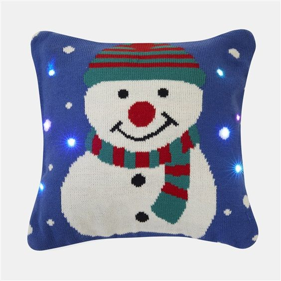 Light-up snowman cushion £10 - Primark